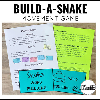 Word Building Phonics Snakes