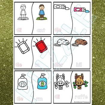 """Phonics """"C and G Words Soft and Hard"""" (Puzzle Cards)"""
