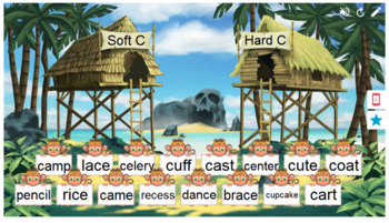 Phonics Soft and Hard Sounds for C Smart Lab Interactive Whiteboard Activities
