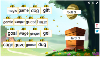 Phonics Soft and Hard Sounds for G Smart Lab Interactive Whiteboard Activities