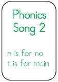 Phonics Song Upper and Lower Case Picture Flash Cards