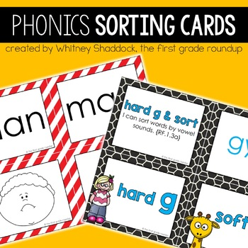 Phonics Sorting Cards for First Grade