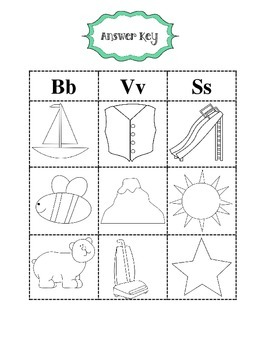 Phonics Sort for B V S