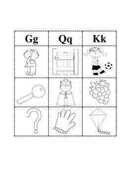 Phonics Sort for Q K G