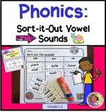 Phonics:Sort-it-Out Combination Vowel Sounds Cut/Paste/Col
