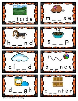 Phonics Sort: ow and ou Set