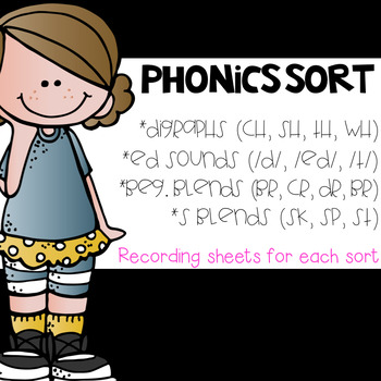 Phonics Sorts: Blends, Digraphs, Ending Sounds