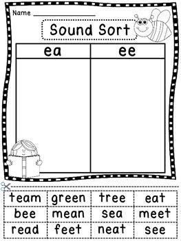 Phonics Sound Word Sorts Worksheets