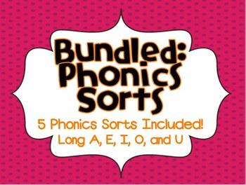 Phonics Sorts (Long A, E, I, O, U BUNDLE PACK)