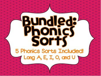 Phonics Sorts (Long A, E, I, O, U BUNDLE PACK)