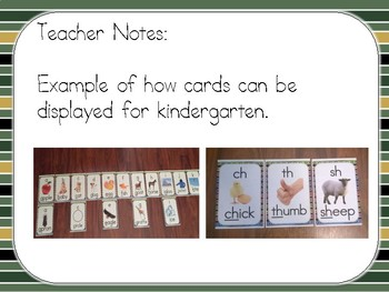 Phonics Sound Cards (Matches Star Wars Green Striped Theme)