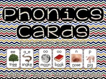 Phonics Sound Cards (Matches Star Wars Theme Chevron)