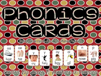 Phonics Sound Cards (Matches Star Wars Theme Red Polka Dot)