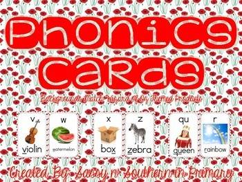 Phonics Sound Cards (Matches Wizard of Oz Poppy Flowers)