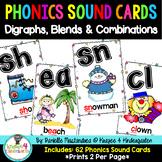 Phonics Sound Cards Poster Set {62 Digraphs, Blends & Combination Cards}