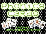 Phonics Sound Cards with Black Polka Dot Border