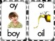 Phonics Sound Cards with Black Water Color Dots Border
