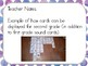 Phonics Sound Cards with Shades of Purple Water Color Dots Border