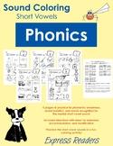Phonics Sound Coloring - Short Vowels, Middle