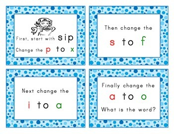 Phonics - Sound and Letter Substitution Flip Book Activity