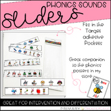 Phonics Sounds Sliders: Use with Rectangular Adhesive Pockets
