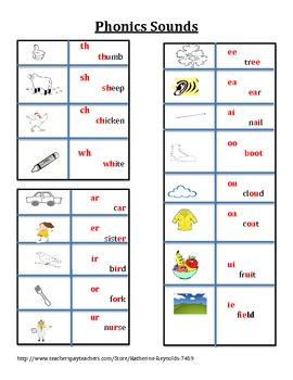 Phonics Desktop Reference or Interactive Notebook