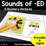 Phonics : Sounds of -ED - 6 mystery pictures - Printable &