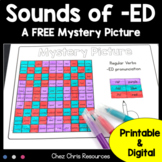 Phonics : Sounds of -ED -  A FREE mystery picture