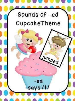 Phonics-Sounds of /ed/  Cupcake Theme