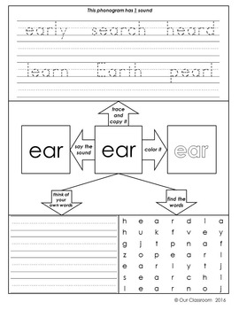 Spalding Phonogram Worksheets (3+ Letter Phonograms)