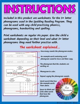 spalding phonogram worksheets bundle all 70 phonograms by our classroom. Black Bedroom Furniture Sets. Home Design Ideas