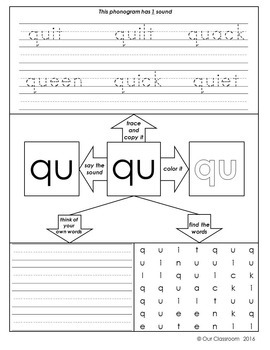 Spalding Phonogram Worksheets BUNDLE (All 70 phonograms ...