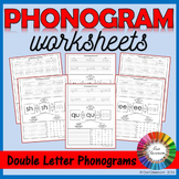 Spalding Phonogram Worksheets (Double Letter Phonograms)