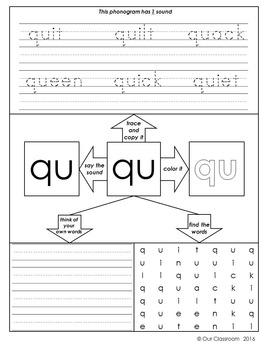Spalding Phonogram Worksheets (Double Letter Phonograms)