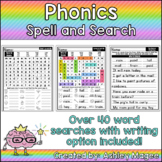 Phonics Spell and Search - Phonics Word Searches with Writ