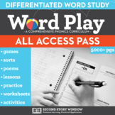 Phonics & Spelling All Access Pass - Word Play All Phonics