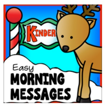 December Kindergarten Morning Work