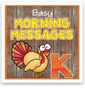 Kindergarten November Morning Messages