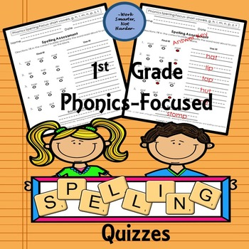 First Grade Phonics Spelling Pack