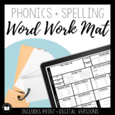 Phonics & Spelling Word Work Mat | PDF, Distance Learning