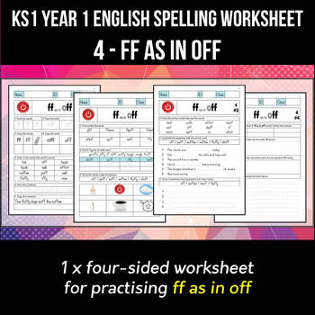 Phonics Spelling Worksheet - f sound spelled FF by Andy Babb | TpT