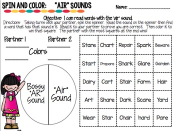 Phonics Spin & Color Games