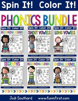 Phonics Spin It Color It Bundle