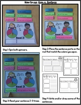 Phonics Sentence Spin: Consonant Blends and Double Consonants
