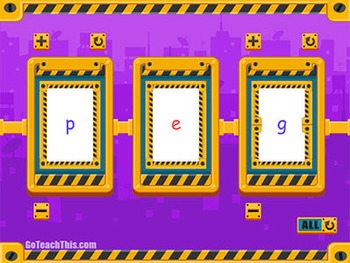 Phonics Flip Books:  5 Electronic CVC Phonics Spinners - Short Medial Vowels