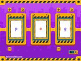 Phonics Flip Books:  5 Electronic CVC Phonics Spinners - Short Medial Vowels