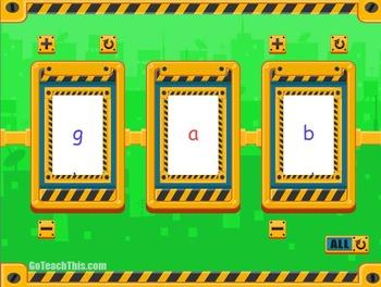 Phonics Flip Book Spinner - {CVC} - Smartboard Game