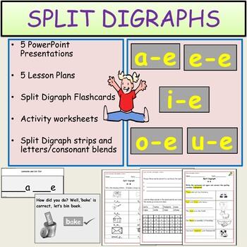 Phonics Split Digraphs - Presentations, Lesson Plans, Worksheets/Activities