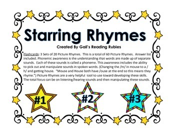 Phonics Starring Rhymes Flashcards