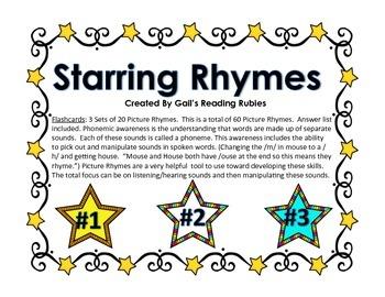 Phonics Starring Rhymes Flashcards